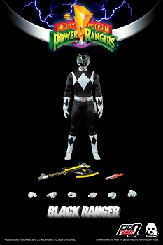 ThreeZero Mighty Morphin Power Rangers BLACK RANGER- 1/6 Scale