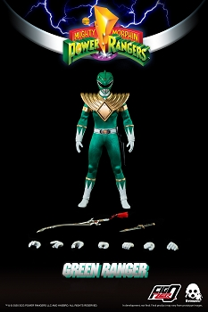 ThreeZero Mighty Morphin Power Rangers GREEN RANGER- 1/6 Scale