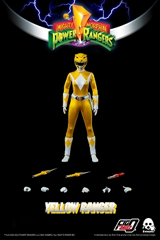 ThreeZero Mighty Morphin Power Rangers YELLOW RANGER- 1/6 Scale