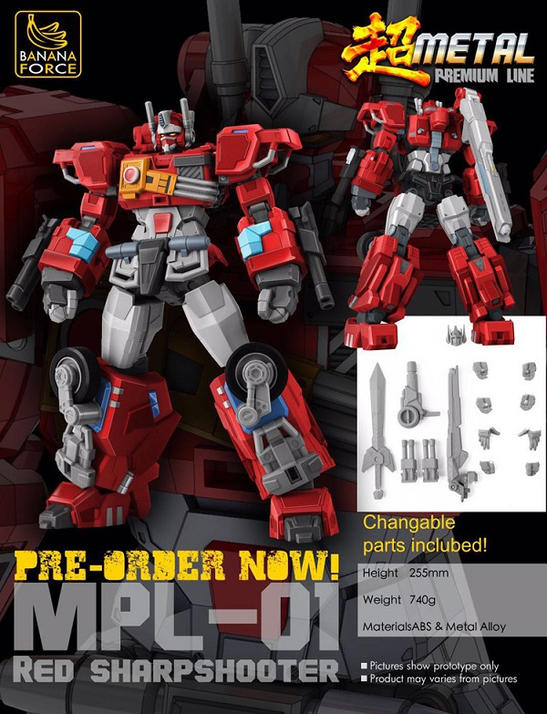 Banana Force LTD Metal Premium Line MPL-01 RED SHARPSHOOTER