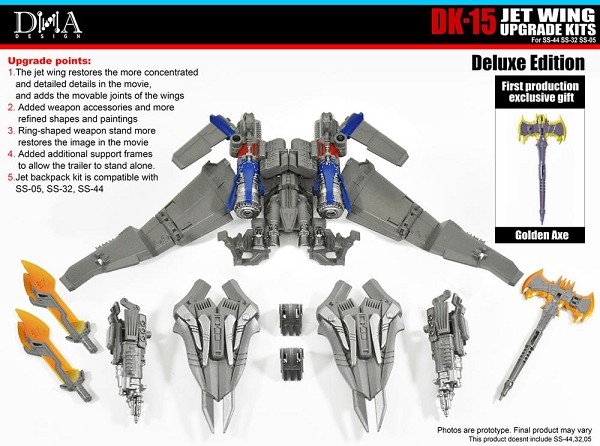 DNA Design DK-15 Deluxe Upgrade Kit for Transformers Studio Series SS05/32/44 Optimus Prime