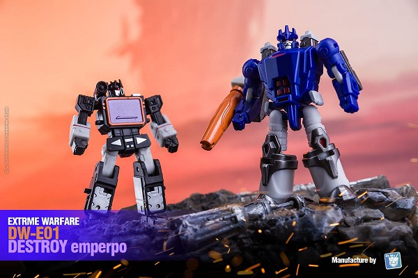 Dr Wu Extreme Warfare DW-E01 DESTROY EMPEROR and DW-E02B MONITOR OFFICER (Black Version)