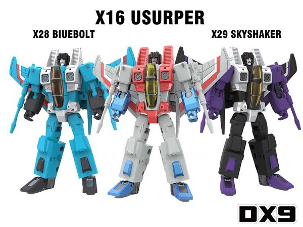 DX9Toys War in Pocket Seekers X16 USURPER, X28 BLUEBOLT, and X29 SKYSHAKER