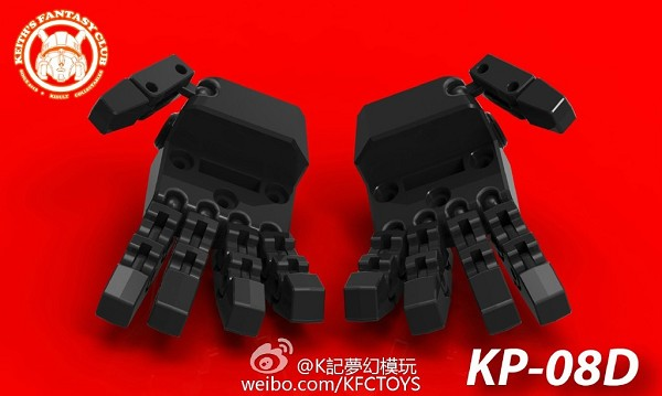 KFC Toys KP-08D Articulated hands for MP-31 Delta Magnus