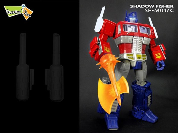 Shadow Fisher SF-M01C  SMOKESTACKS Upgrade Kit for Takara  MP-10