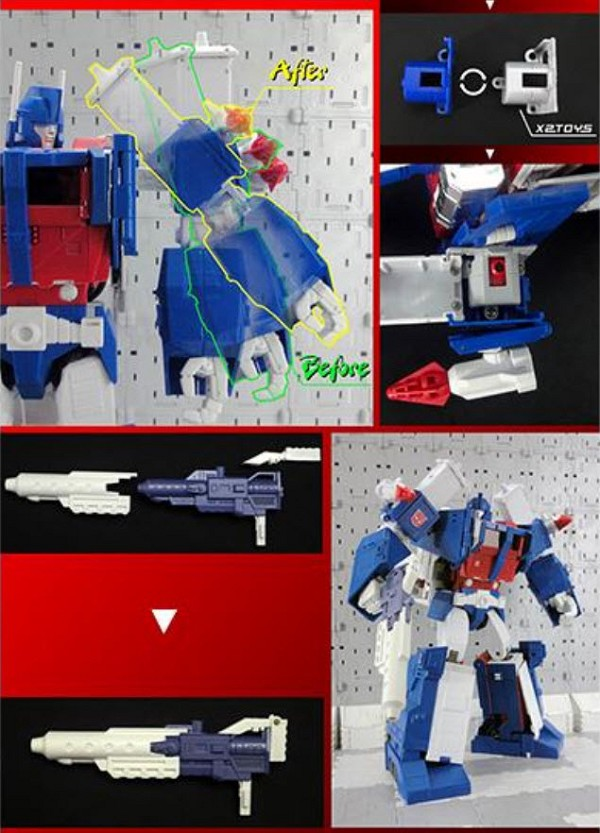 X2Toys XT007W Blaster and Shoulder Upgrade kit for MP-22 Ultra Magnus