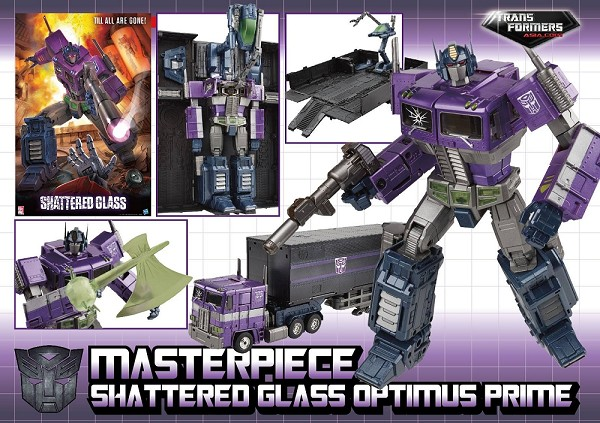 Hasbro Masterpiece Shattered Glass Optimus Prime