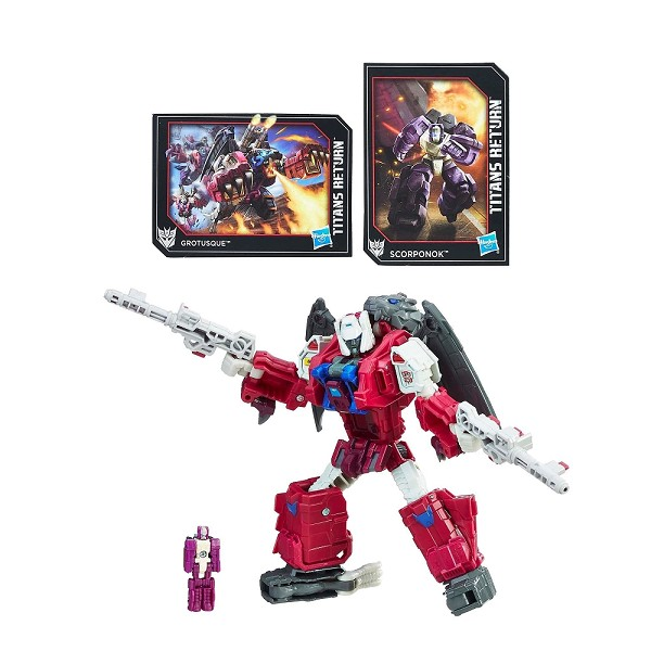 Hasbro Titans Return MONSTERBOT GROTUSQUE with FENGUL & SCORPONOK