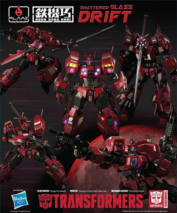 Flame Toys Transformers DRIFT (SHATTERED GLASS)