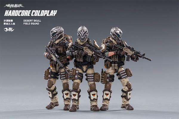 JoyToy Hardcore Coldplay Skeleton Forces Desert Field Squad
