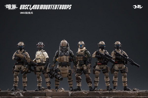 JoyToy Hardcore Coldplay USNC Land Mounted Troops