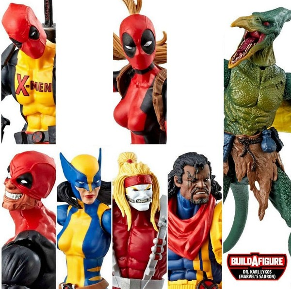 Marvel Legends Deadpool Wave 2 - BAF SAURON (Set of 6))