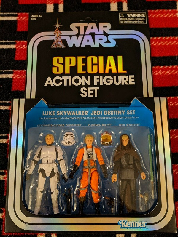Star Wars Vintage Collection LUKE SKYWALKER JEDI DESTINY Pack