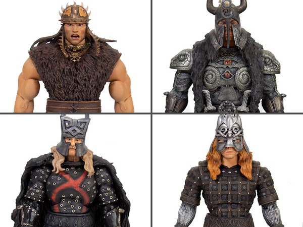 Super7 Conan The Barbarian Ultimates Conan, Thulsa, Rexor, and Thorgrim Set