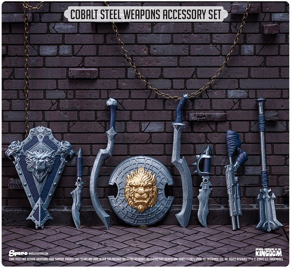 Spero Studios Animal Warriors of the Kingdom: Cobalt Steel Weapons Accessory Set