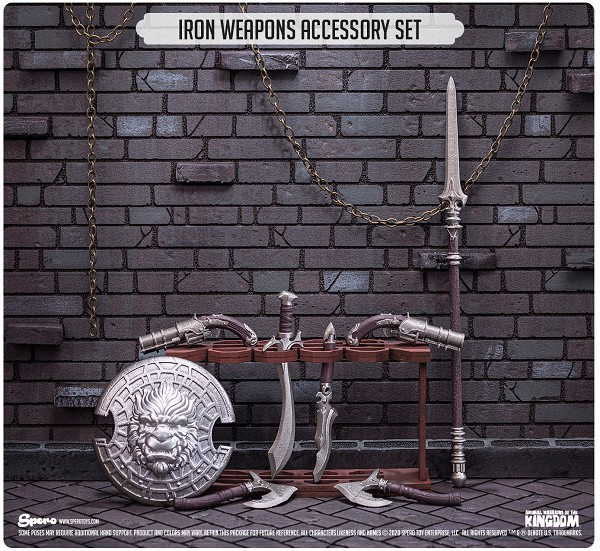 Spero Studios Animal Warriors of the Kingdom: Iron Weapons Accessory Set