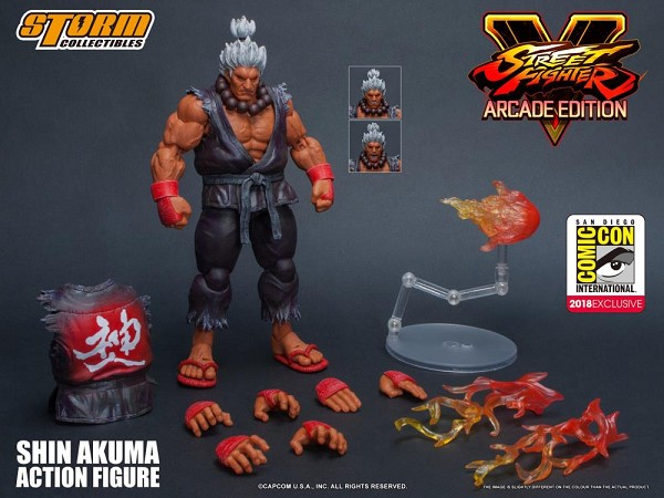 Storm Collectibles Street Fighter V SHIN AKUMA SDCC 2018 Exclusive