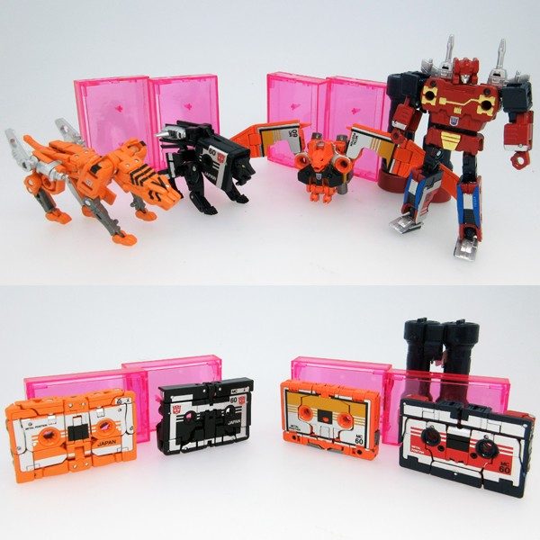 Takara Tomy - Masterpiece MP-15/16E CASSETTEBOT vs CASSETTERON Set w/Coin