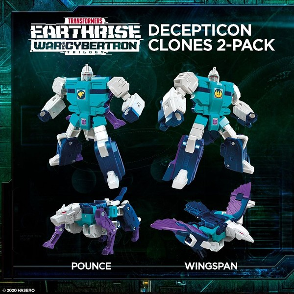 Transformers: Earthrise Deluxe Class DECEPTICON CLONES - POUNCE & WINGSPAN