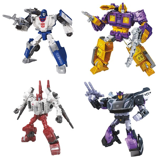 Transformers: Siege Deluxe Wave 4 Set (Mirage, Impactor, Sixgun, and Barricad)