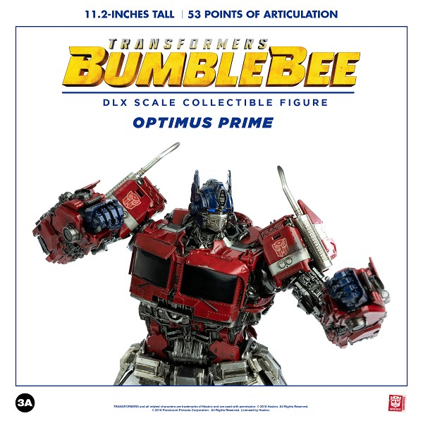 Threezero Bumblebee Movie DLX Scale OPTIMUS PRIME (2020 Reissue)