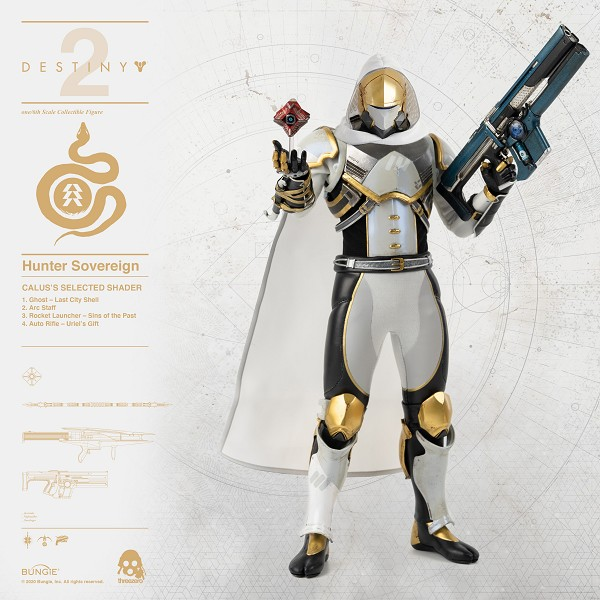 ThreeZero Destiny 2 Hunter Sovereign 1/6 Scale CALUS'S SELECTED SHADER