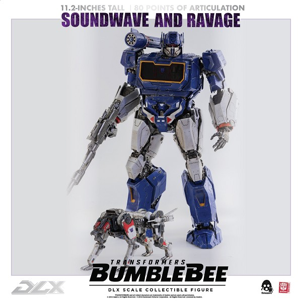 ThreeZero Bumblebee Movie DLX Scale SOUNDWAVE & RAVAGE (2021 Reissue)